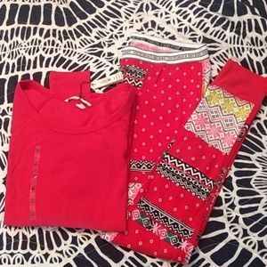 VS thermal pajama set